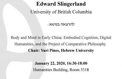 Body and Mind in Early China: Embodied Cognition, Digital Humanities, and the Project of Comparative Philosophy