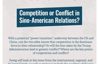 Competition or Conflict in Sino-American Relations?